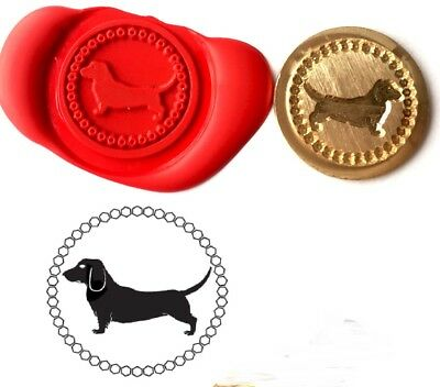 Dachshund Dog Pet Wax Stamp Seal Starter KIT or Buy Coin Only XWS039B/XWSC041