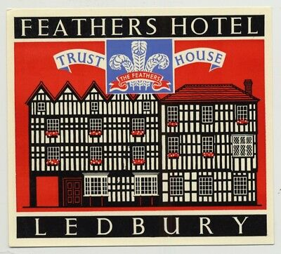 Feathers Hotel (Trust House) - Chester / Great Britain (Vintage Luggage Label 19