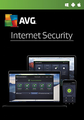 Download AVG Internet Security & Antivirus 2019 1 Device 1 Year Retail License