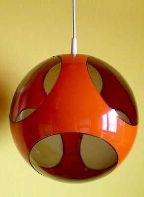 Luigi COLANI Lampe UFO Vintage SPACE Age 60 70 er ORANGE gelb ROT Auge POP Kugel