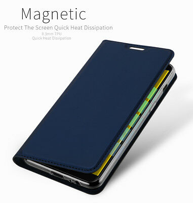 DD For Samsung Galaxy J6 / J6 Plus PU Leather Flip Case Wallet Magnetic Cover