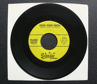 """7"""" Frankie Miller - Young Widow Brown - US Starday"""