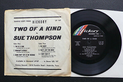 EP Sue Thompson - Two Of A Kind - US Hickory Promo