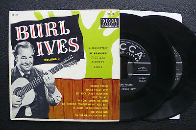 2x EP Burl Ives - Folk And Country Songs Vol.3 - USA DECCA