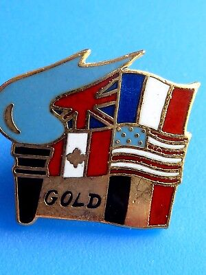 Rare Pin Pins Pin's .. Vintage 1994 D-Day Debarquement 1944 Normandy Gold