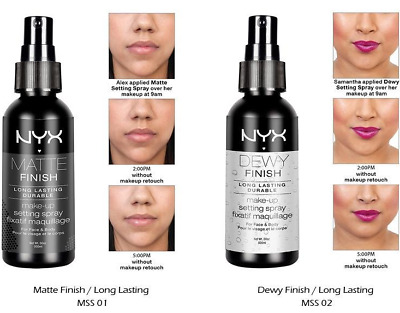 "NYX Makeup Setting Spray ""MSS01"" Matte Finish/""MSS02"" Dewy Finish (Long Lasting)"