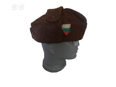 Bulgarian Winter Soldiers` Army Tankman Hat Wool Cap With Bulgarian Flag