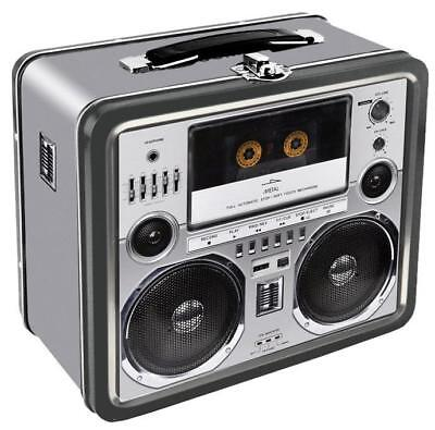"Boombox w/ Cassette Deck Retro Lunch Box - 7.75"" x 6.75"""
