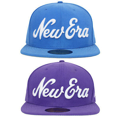 New Era 59Fifty Script Fitted Baseball Cap