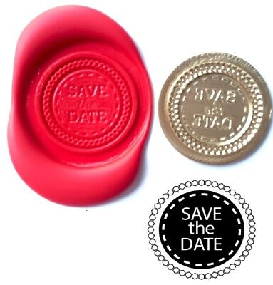Save The Date, Invitations Wax Stamp Seal Kit or Buy Coin Only  XWS039B/XWSC203