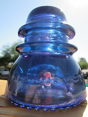 Vintage Hemingray 42 Purple Blue Glass Insulator Colored / Stained CD 154