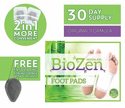 DETOX FOOT PADS REMOVE TOXINS Sleep better Pain Relief Relieve Stress +KONJAC