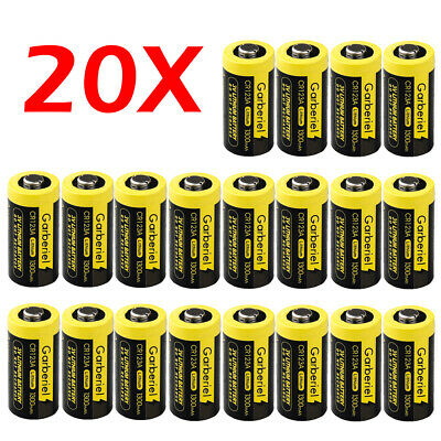 20x Garberiel Single-Use Batteries 123A CR123A DL123 EL123 3V Lithium For Camera