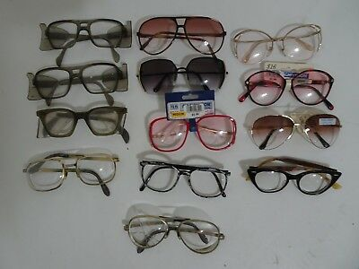 Lot of 13 pairs of Vintage Eyeglass Frames - Some are New