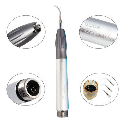Upgrade Dental NSK Style Ultrasonic Air Scaler Handpiece 2Holes w/ Tips G1 G2 G4