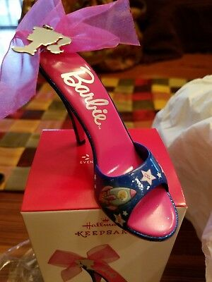 Shoe-Sational Hallmark 2017 National Barbie Convention Shoe Ornament in box