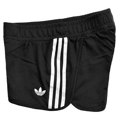 ADIDAS DAMEN TREFOIL Shorts Hot Pants Firebird Sommer Training Hose schwarzweiß