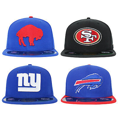 New Era 59Fifty Buffalo Bills 49ERS Giants NFL On Field Fitted Baseball Cap