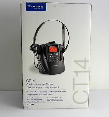 Plantronics DECT 6.0 CT14 Cordless Headset Phone