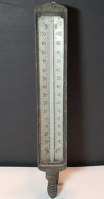 Vintage Moeller Brass Thermometer 16 Inches Richmond Hill NY Steampunk