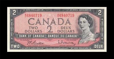 "1954 BANK OF CANADA QEII $2 **Beattie & Rasminsky** ""W/U"" (( GEM UNC ))"