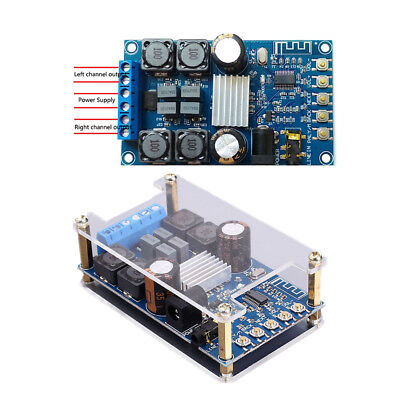 Dual Channel TPA3116 2X50W No POP Bluetooth Amplifier Board Stereo Module+Case