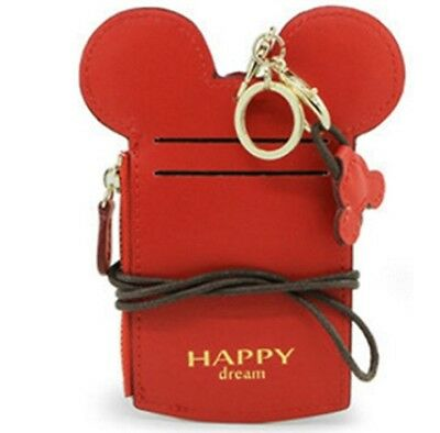 Mickey Ears Id Card Holder with coins zipper