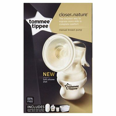 Manual Breast Pump Bottle Pads & Steriliser Box Tommee Tippee Closer to Nature