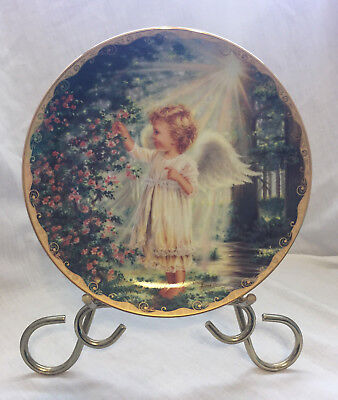 The Bradford Exchange collector plate An Angel's Touch Gelsinger 1996 EUC
