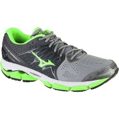 Men's Mizuno Wave Horizon Running Shoes - Gray/Green/White - NIB!