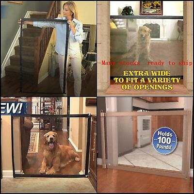 Magic Mesh Dog Gate For The House Stairs Extra Wide and Safe Install Everywhere