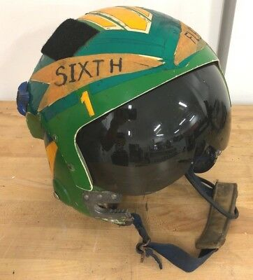 APH-6 FLIGHT HELMET w/ Art Navy Vietnam Pilot Naval Aviation A-6 Intruder  VA-165