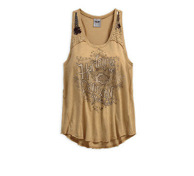 040451377eb548 Harley-Davidson® Women s Embellished Shoulder Sleeveless Tank Top 96012-18VW