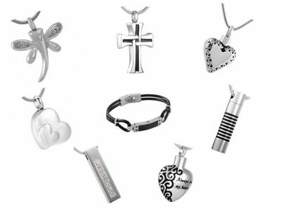 Cremation Pendant Ashes Keepsake Necklace Jewellery Memorial Stainless Steel Urn