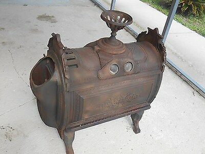 Antique 1876 Culter & Proctor Peoria,cast Iron Parlor Wood Fire Place Cook Stove
