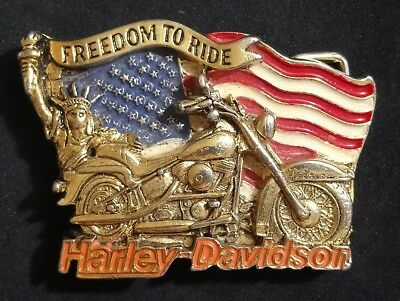 Boucle de ceinture Harley Davidson FREEDOM TO RIDE H 408 Baron Belt Buckle cc3a05ebec0