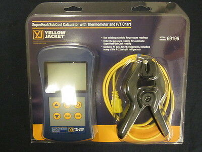 Yellow Jacket Superheat/Subcool Calculator w/ Thermometer & P/T Chart 69196