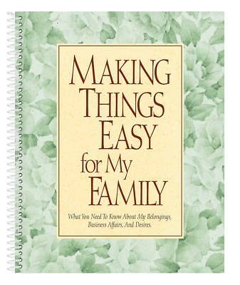 Making Things Easy For My Family Organizer Book