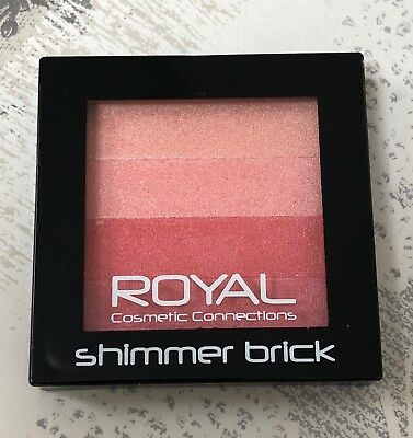 ROYAL Cosmetics Blusher Shimmer Brick. Powder Compact. Brand New & Sealed X