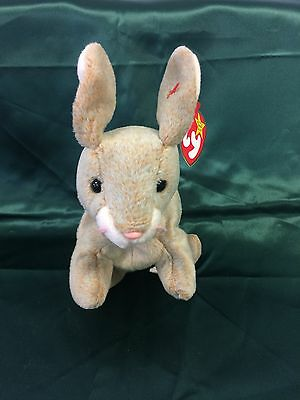 TY Beanie Baby Nibbly the Bunny Rabbit Ty With Tag Errors 1998 Hang 1999 Tush