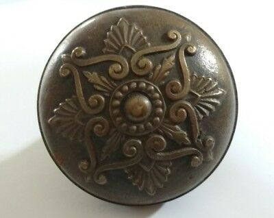 Antique Victorian Eastlake Art Nouveau Brass Bronze Door Knob Ornate