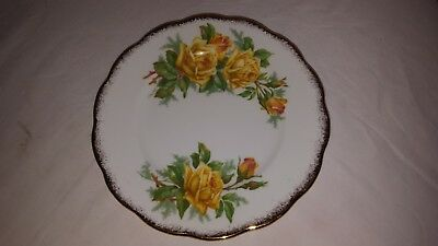 Royal Albert Yellow Tea Rose Bread And Butter Plate 6.25 Inch