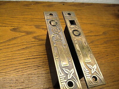 """ Broken Leaf "" ?? Bamboo ? Brass ?  Pocket Door Locks Mortise Locks Latches"