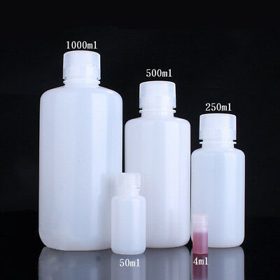 HDPE Plastic Storage Containers Jars Canisters Pots Screw Top 50ml 150ml-1000ml