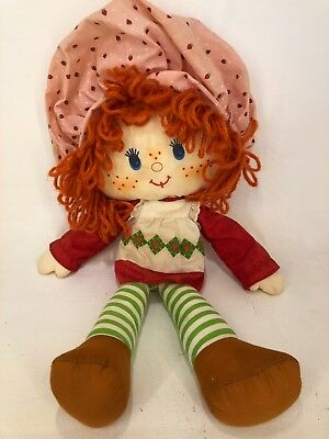 Vintage Strawberry Shortcake - Kenner 1982 - Strawberry - Rag Doll / Plush