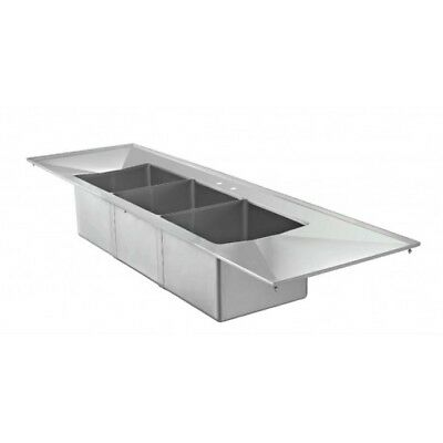 3 Bowl Drop In Sink with 2 Drain Boards