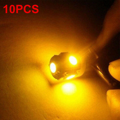 Car Dashboard Light Durable 5LED T10 W5W 5050 10pcs Auto Parking Tail Beads