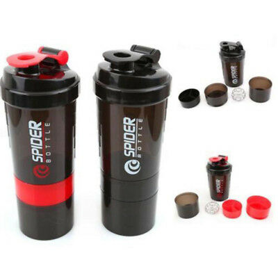 New Pro 600ml Fashion Sport Gym Protein Powder Blender Shaker Mixing Cup Drink