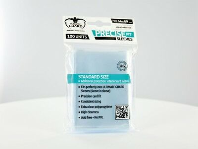 Ultimate Guard - Precise-Fit Sleeves Standard Transparent (Clear) 100 Cases