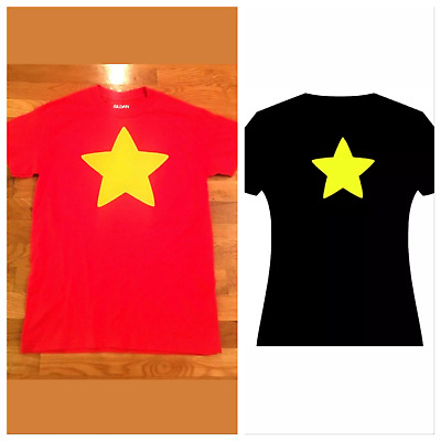 Steven's Universe Star Shirt Adult Unisex T Shirt Youth S- Adult XL Red Yellow
